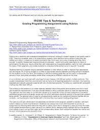 grading programming assignments using rubrics pdf download available