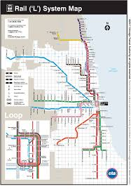A Train Map Cta Maps Bus And U0027l U0027 System Maps
