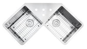 Undermount Stainless Steel Sink Ruvati Rvh8400 Undermount Corner Kitchen Sink 16 Gauge 44