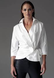 white wrap blouse the white shirt by the shirt company avalon