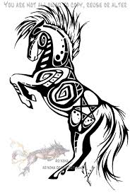 rearing tribal horse by arixona on deviantart