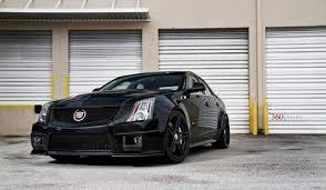 matte black cadillac cts v cadillac cts v on 360 forged alloy spec5 wheels gtspirit