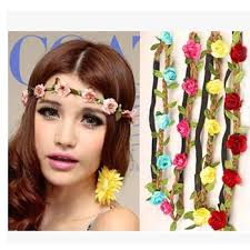 flower hair beautiful flower hair band ribbon