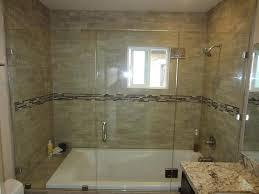 Bathtubs With Glass Shower Doors Half Glass Shower Door For Bathtub Design Half Glass Shower Door