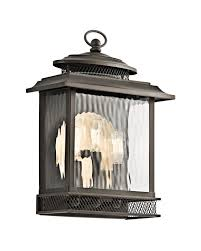 Kichler Outdoor Wall Sconce Elstead Lighting Kichler Pettiford 3 Light Outdoor Large Wall