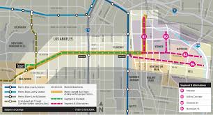 Los Angeles River Map by Active Transportation Rail To River Corridor