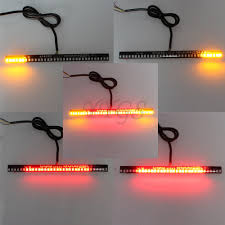what is integrated led lighting turn tail brake universal motorcycle light strip stop signal 33led