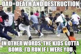 Running Dad Meme - running away from kid memes imgflip