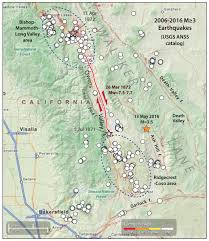 Usgs Earthquake Map California Eastern California U0027s Intense Seismic And Geothermal Activity
