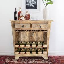 oak wine rack console table u2013 home design