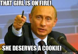 This Girl Is On Fire Meme - meme maker that girl is on fire she deserves a cookie
