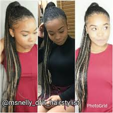 small cornrow ponytail feeder braids natural hair style braids
