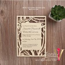 laser cut invitations rustic tree string lights laser cut wedding invitation wfl0108