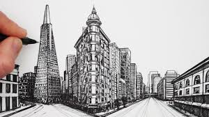 how to draw in 2 point perspective san francisco buildings ikwikit