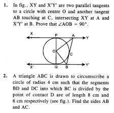 circles cbse class 10 maths hots questions