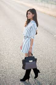 how to wear a shirt dress this fall