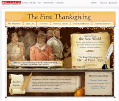 great thanksgiving site from scholastic with free resources and