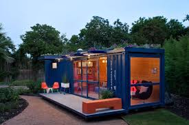 architecture blue sea container house design come with interior