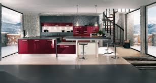 cuisine blanche mur framboise la cuisine inspiration cuisine