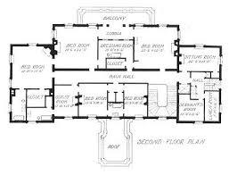 architectural design floor plans pope s meyer white house 2nd floor plan via architect