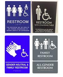 Gender Neutral Bathrooms - gender neutral single occupant restrooms