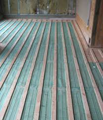 floor heating installation hardwood