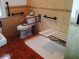creative wheelchair accessible bathrooms designs and colors modern