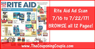 rite aid ad scan for 7 16 to 7 22 17 browse all 12 pages
