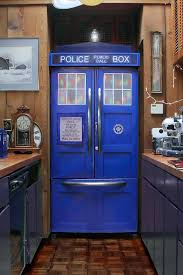 Tardis Bookcase For Sale Dr Who Up Your Kitchen With The Diy Tardis Fridge Kit Forces Of Geek