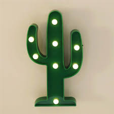 led cactus light yiamia cute night table lamp light for kids