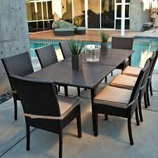 wicker dining room chairs furniture swimming pool with black wicker dining table set having