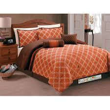 Rust Comforter Hg Station 7 Pc Coleen Intertwining Lines Helix Embroidery Pleated