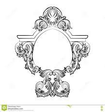 baroque rococo exquisite mirror frame decor stock vector image