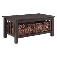 walker edison coffee table walker edison storage coffee table with totes walmart com