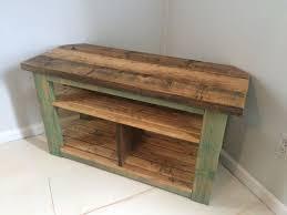 distressed corner tv cabinet rustic corner tv wood stand console teal distressed corner tv