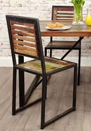 Set Of Four Dining Chairs Agra Reclaimed Wood Furniture Set Of Four Dining Chairs Ebay