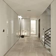 Home Design Flooring Panels Of Glass Perhaps On White Walls And Stunning Stone Floor
