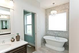 bathroom modern bathroom design with drum pendant lighting and