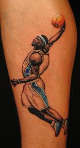 colored calf tattoo with lebron james http www lovely tattoo