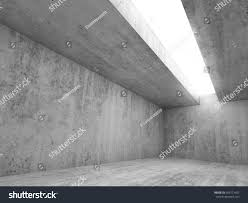 Concrete Ceiling Abstract Architecture Interior Background Empty Concrete Stock