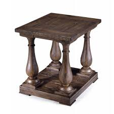rustic pine end table densbury traditional rustic natural pine end table free shipping