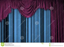 Blue Curtains Purple And Blue Curtains Stock Photo Image 69413234