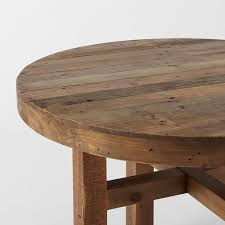 Brilliant Round Wood Dining Table Emmerson Reclaimed Wood Round - West elm emmerson reclaimed wood dining table