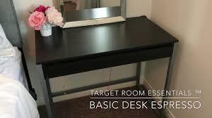target room essentials basic desk espresso quick overview