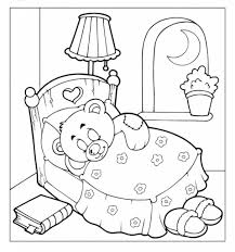 coloring page teddy bear aecost net aecost net