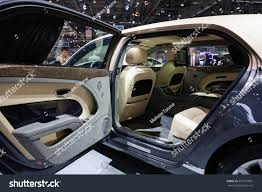 bentley mulsanne white interior geneva switzerland march 1 geneva motor stock photo 397291681
