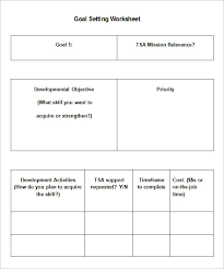 5 goal setting worksheet templates u2013 free word pdf documents