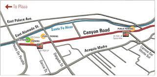 road map up road santa fe