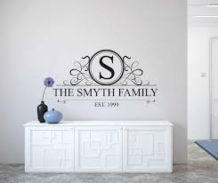 family where life begins personalised wall decal sticker personalised family name monogram wall decal personalised wall decal sticker