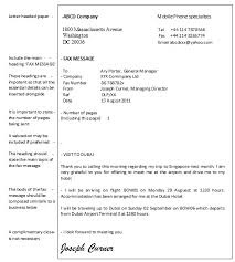 5 best images of sample fax letter format sample fax cover
